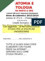 PRIMA PARTE Anatomia Ed Istologia IPUS 2014