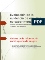 Evaluacion de La Evidencia de Estudios No Experimentales