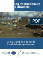Dos and Donts in Disasters