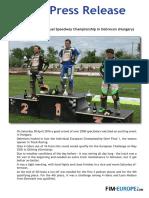 PR 75 2016 European Individual Speedway Championship in Debrecen Hungary