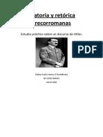 Hitler y la Oratoria y Retórica grecorromanas