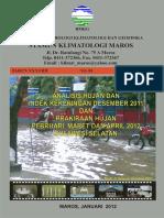 Analisis Des 2011 Dan Prak Peb, Mar, Apr 2012 Sulsel