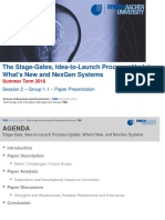 Stage Gate Method for Structured Innovation