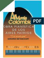 ARMONIA COLOMBIANA. TRANSCRIPCIONES. Gerardo Betancourt.