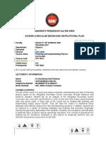 Instructional Plan TFP 3013 Sem 1 20072008