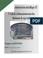 Constructions en Acier Chapitre 5 Calcul Et Dimensionnement Des Batiments de Type Halle 11 12