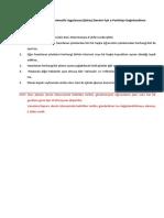 E-Portfolyo Değerlendirme Kuralları