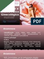 Anamnese e Exame Físico Ginecológico