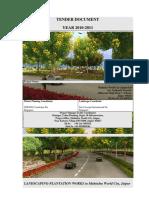 Tender for Landscape Plantation Works