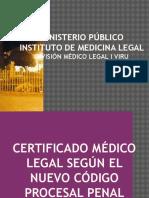 Ministerio Público de Medicina Legal - Dr. Cesar Quito Santos