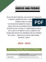 Plan de Seguridad Salud en El Trabajo y Medio Ambiente - Marcahuasi