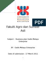 New Business Plan Gadis Melayu