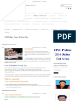 UPSC Main Exam Writing Tips - Dr