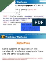 non linear systems a