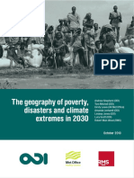The Geography of Poverty, Disasters and Climate Extremes in 203