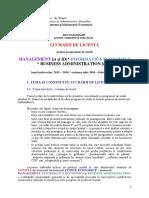 Recomandari licenta 2015-2016