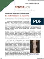 La Matemática en La Argentina