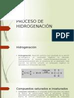 Proceso de Hidrogenación