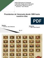 Presidentes de Venezuela Desde 1958 Hasta 2015