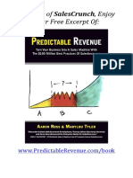 Predictable Revenue Book Sample - First Four Chapters