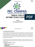 INFORME TECNICO. PEDAGOGICO