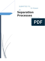 Separation Processes Lab Report