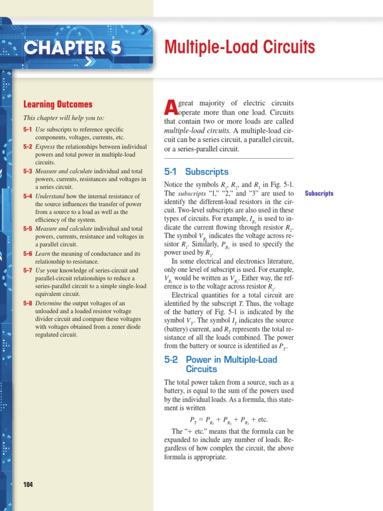 Chapter 05 Series And Parallel Circuits Electrical Resistance Formula For Conductance
