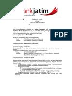 Contoh Jaminan Penawaran & Dukungan Bank pada pelelangan