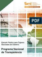 SNTE - CES04a - Ejemplo Programa Nacional de Transparencia