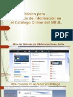 Manual basico para búsqueda de información en Catálogo Online del SIBUL.pptx