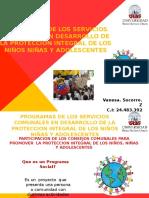 Programas de Los Consejos Comunales Para El Desarrollo Integral de Los Niños, Niñas y Adolescentes