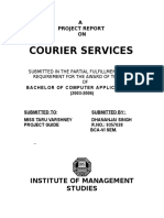 22537462 Courier Service a Project Report