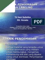 Teknik Pengemasan & Labeling-CSSD - Triheni Sulistika, AMK.ppt