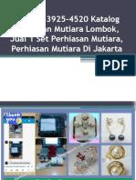 +62896-3925-4520 Katalog Perhiasan Mutiara Lombok, Jual 1 Set Perhiasan Mutiara, Perhiasan Mutiara Di Jakarta