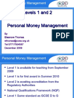Level 1 Personal Money Management Support 5903
