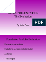 Media Presentation Evaluation 1