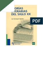 Dominguez Caparros Teorias Literarias Del s Xx
