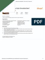 Barbacoa-Style Shredded Beef