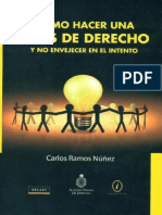 COMO HACER UNA TESIS DE DERECHO Y NO ENVEJECER EN EL INTENTO - CARLOS RAMOS NUÑEZ.pdf