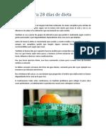 Menús para 28 días de dieta PDF