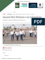 05-01-2016 Apoyará Neto Robinson a Los Trabajadores