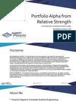 Portfolio Alpha From Relative Strength