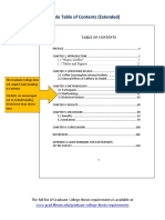 Table of Contents Template PDF