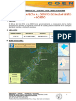 Reporte Preliminar del INDECI - Loreto