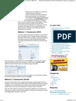 Modificar Tablas SAP