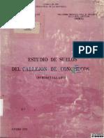 Estudio de Suelos Del Callejon de Conchucos Onern