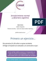 Envejeimiento Normal y Deterior Cognitivo - Posgrado UF 2015