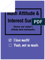 math attitude and interest survey