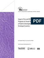 Impact of Sex and HIV Education Programs on Sexual Behaviors of Youth in Developing and Developed Countries