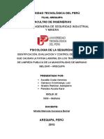 PSICOLOGIA DE LA SEGURIDAD
